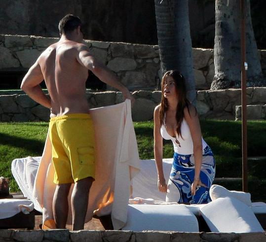 Herečka s Nickem Loebem na dovolené v Los Cabos.