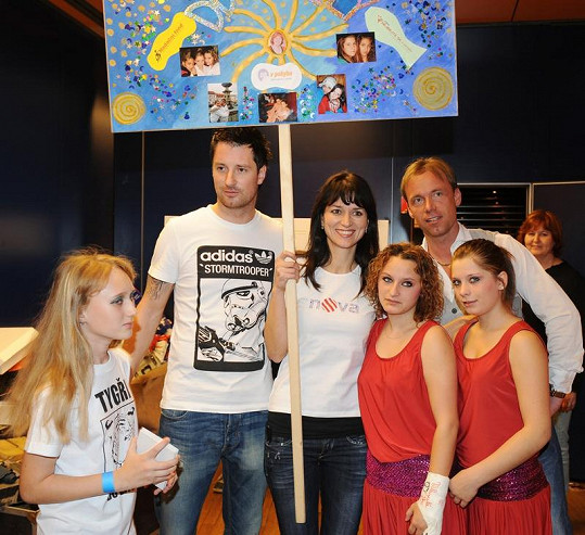 Petr Vágner, Adéla Gondíková a Zdeněk Style Hrubý mezi dětmi.