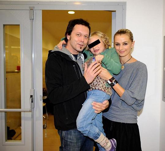 Ivana s Viktorem a dcerou.