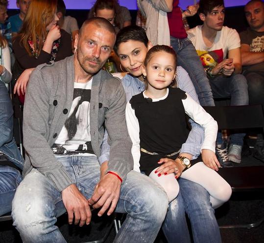 Tomáš Řepka s rodinou.