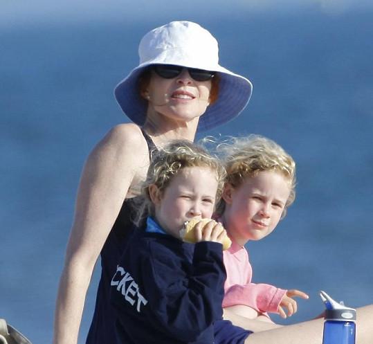 Marcia Cross a její dvojčata Eden a Savannah.