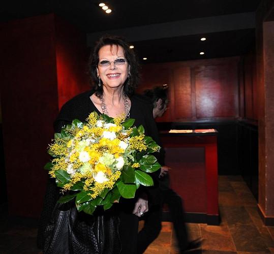 Claudia Cardinalová je ubytována v pražském hotelu Buddha bar.