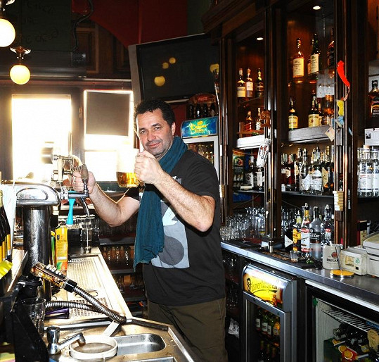 Martin Dejdar si přihnul irského piva.