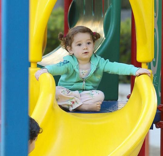 Hereččina roztomilá dcera Satyana.
