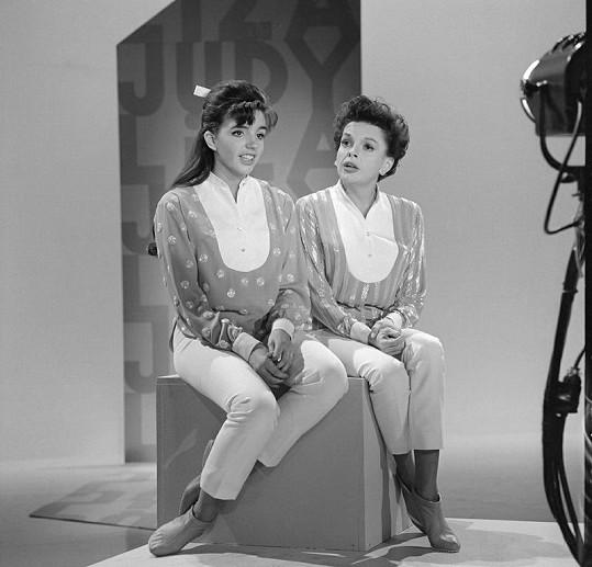 Judy s dcerou Lizou v televizní show.