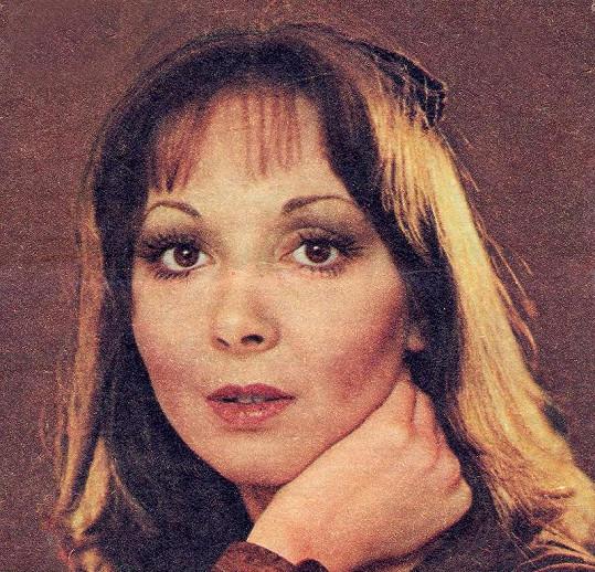 Zpěvačka Eva Hurychová v dobách největší slávy.