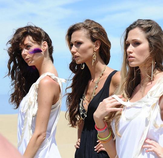 Modelky vypadaly díky líčení od Jarky Tóthové jako antické bohyně.