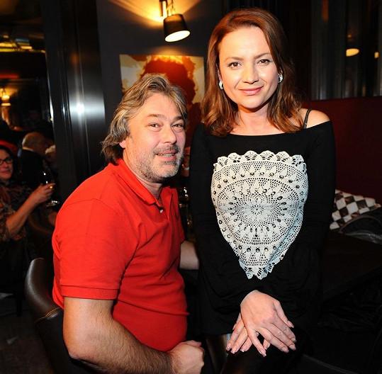 Jolana Voldánová s manželem.