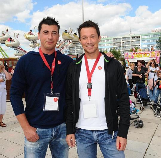 Tomáš a František Kaberle na charitě.