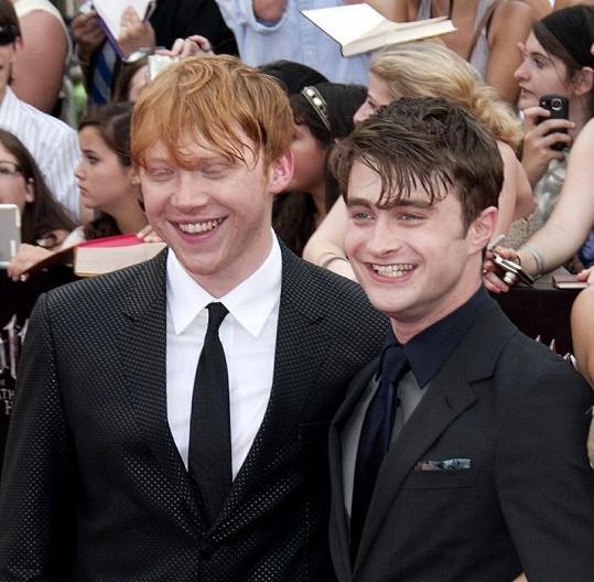 Daniel Radcliffe a Rupert Grint