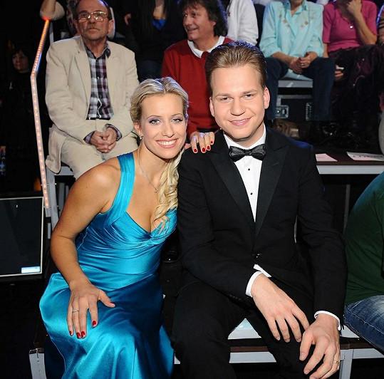 Tereza s partnerem Martinem Chodůrem, s nímž zpívala legendární Stín katedrál