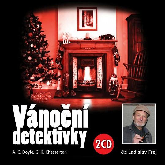 Audiokniha Vánoční detektivky, kterou Frej namluvil.