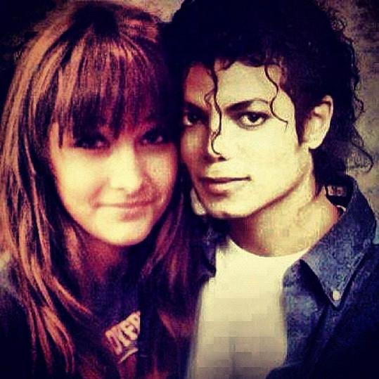 Paris Jackson u plakátu svého otce Michaela Jacksona.