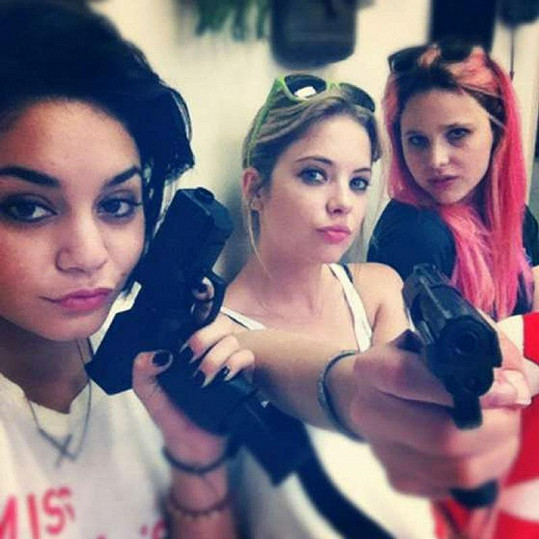 Vanessa Hudgens, Ashley Benson and Rachel Korine.