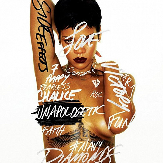 Rihanna na obalu nového alba s názvem Unapologetic.