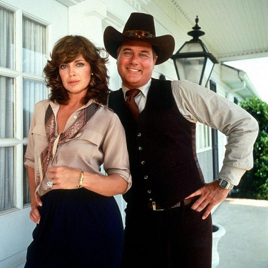 Larry Hagman a Linda Gray v seriálu Dallas.
