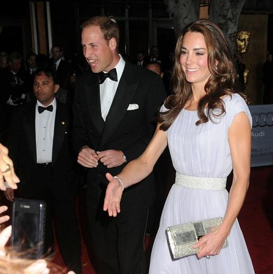 Kate měla úžasně sladěné i doplňky.