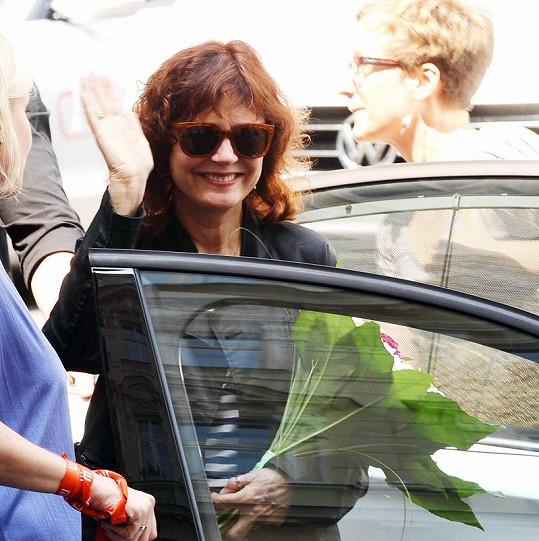 Susan Sarandon přijela do Karlových Varů.
