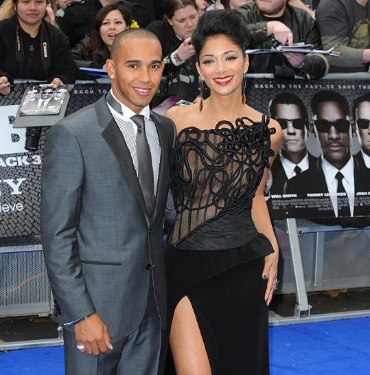 Nicole Scherzinger s přítelem Lewisem Hamiltonem.