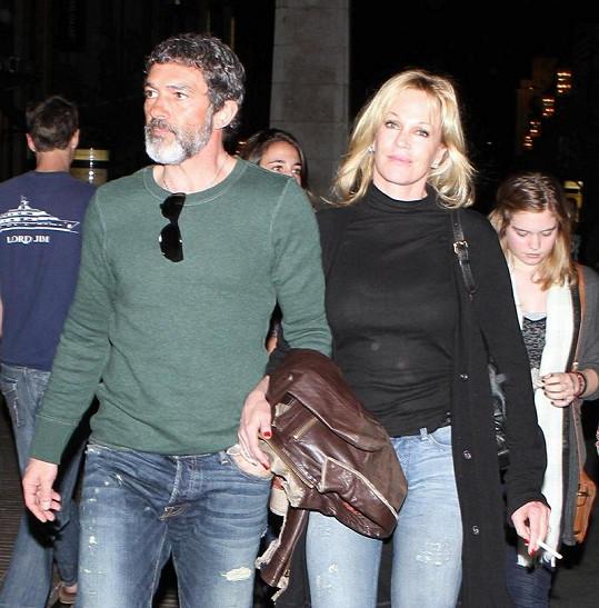Antonio Banderas a Melanie Griffith.