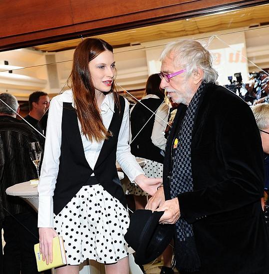 Iva s Pierrem Richardem se znají z Paříže.