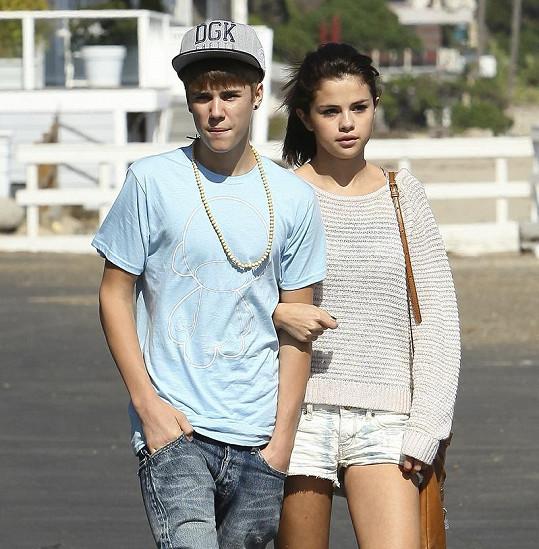 Selena Gomez s Justinem Bieberem.