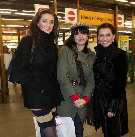 Iva Kubelková, Marta Jandová a Dana Morávková.