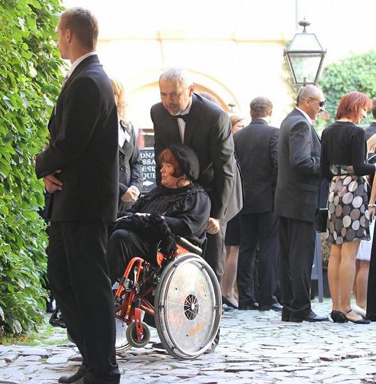 Marek Eben se svou manželkou Markétou.