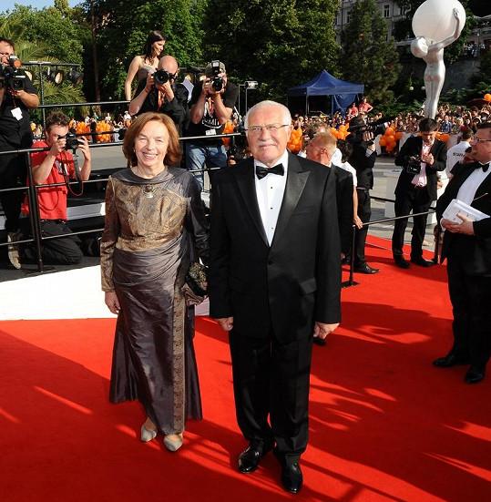 Prezident Václav Klaus s manželkou Livií.