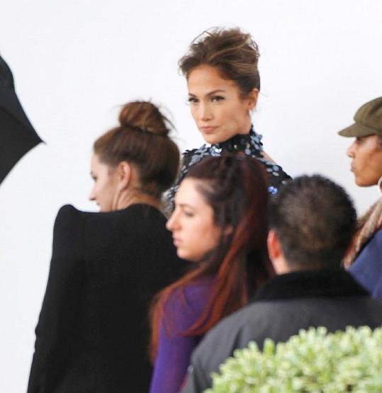 Jennifer Lopez a její tým.