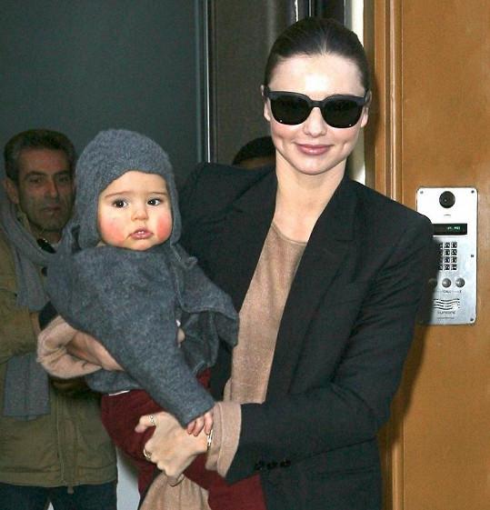 Miranda Kerr a téměř roční syn Flynn.