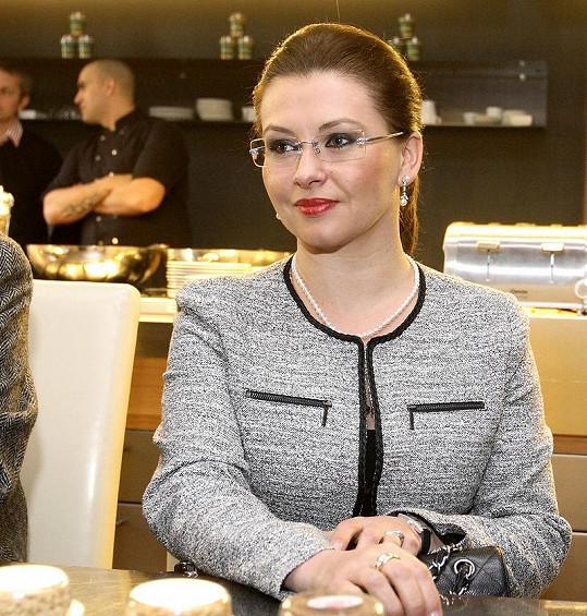 Dana Morávková na tiskové konferenci.
