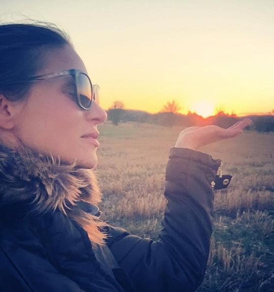 Západ slunce si Verešová vychutnala plnými doušky.