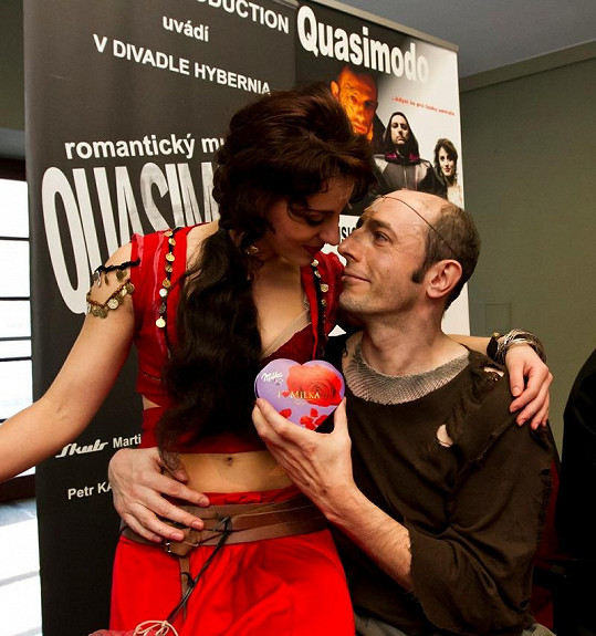 Csongor Cassai a Markéta Procházková po speciálním valentýnském představení.