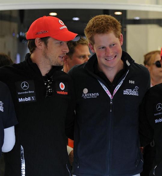 Princ Harry a Jenson Button se kvůlu Florence nepoprali.