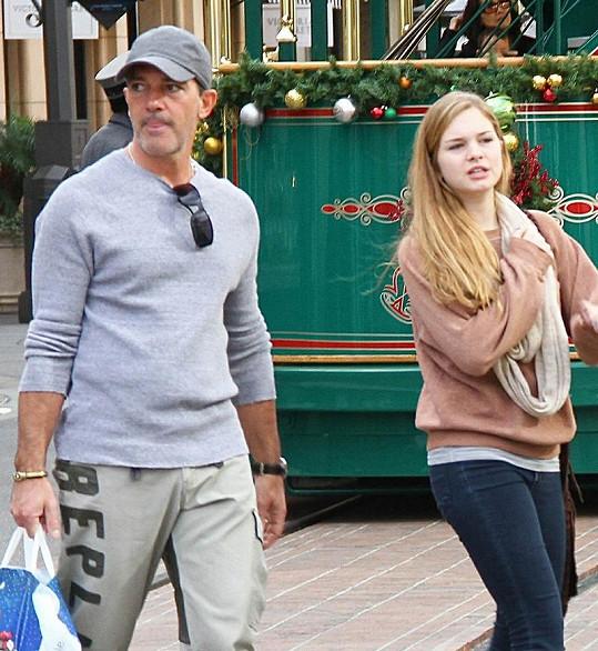 Antonio Banderas a jeho dcera Stella.