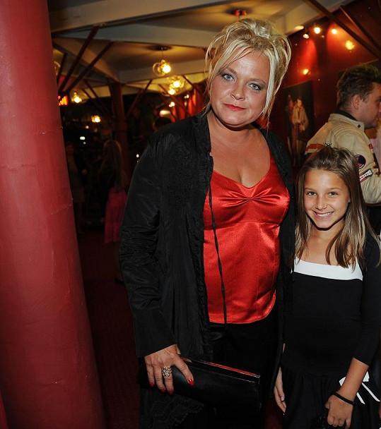 Markéta s dcerou Agátou, kterou má z manželství se Slávkem Bourou.