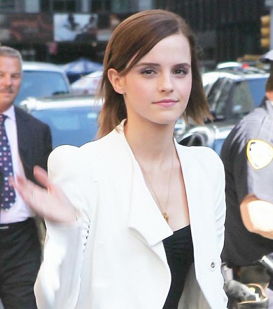 Emma Watson byla hostem v Late Show Davida Lettermana.