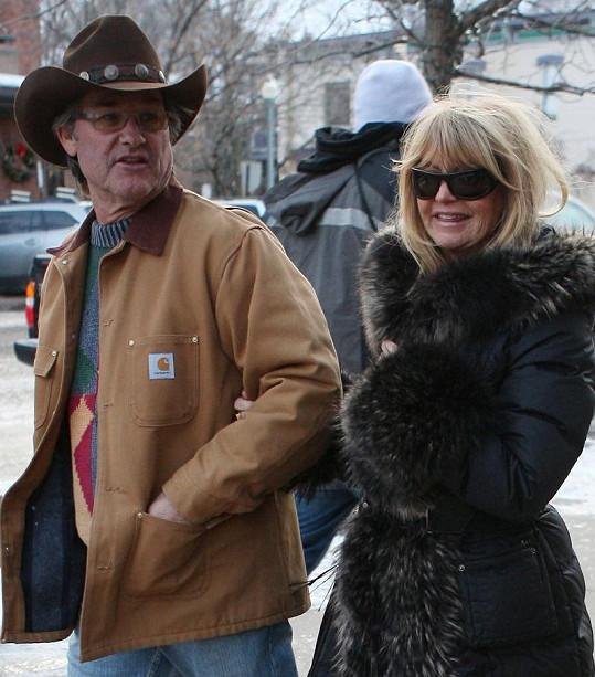Goldie Hawn se současným manželem Kurtem Russellem.
