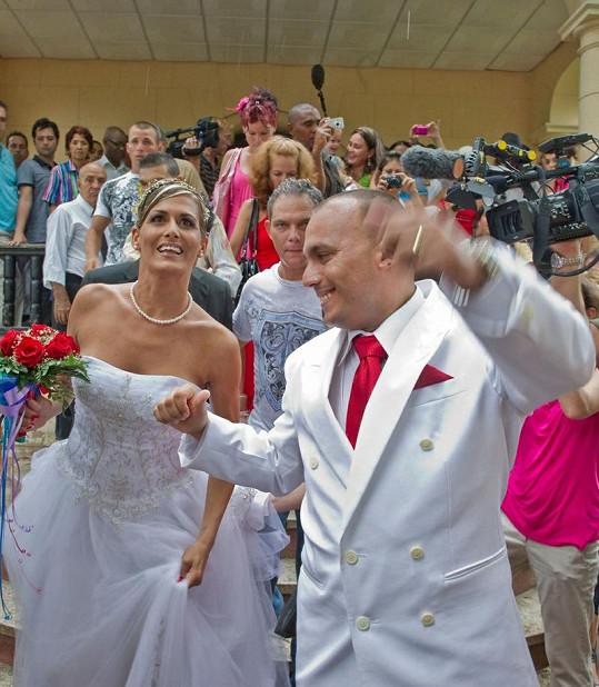 Netradiční kubánská svatba byla velkou slávou.
