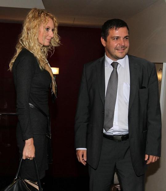 Karel Březina se svou novou partnerkou.