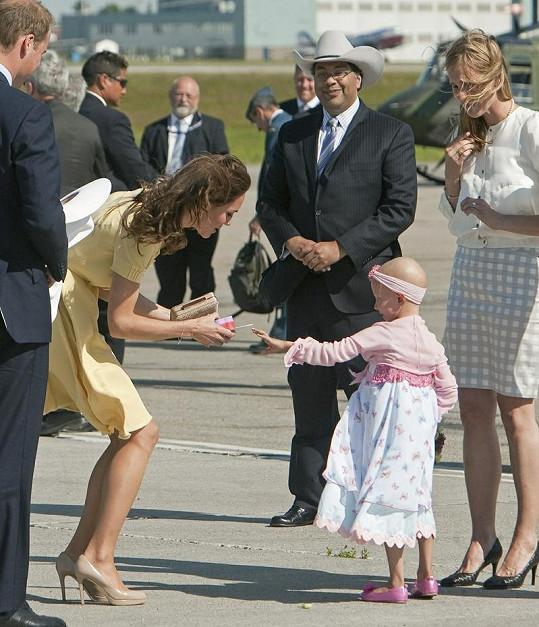 Vévodkyně Kate a malá Diamond.