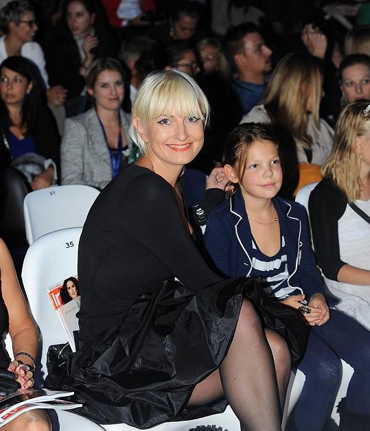 Budoucí generaci módních bloggerek zastupovala dcera Báry Nesvadbové Bibiana.
