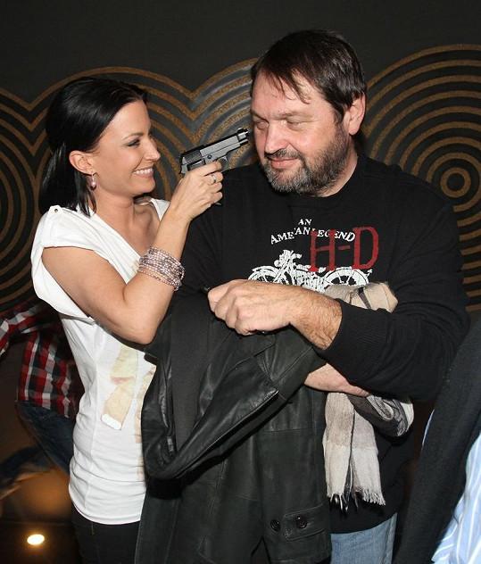 Gábina Partyšová s exmanželem Josefem Koktou