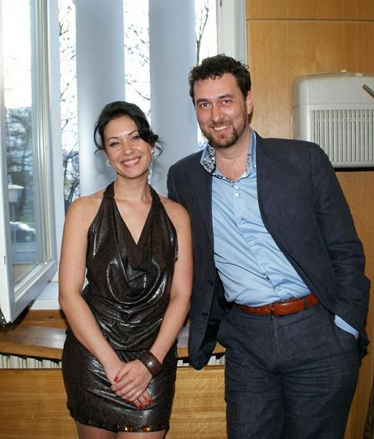 Domenico Martucci a Adéla Taş se potkali na nahrávání rozhlasového pořadu v Plzni.
