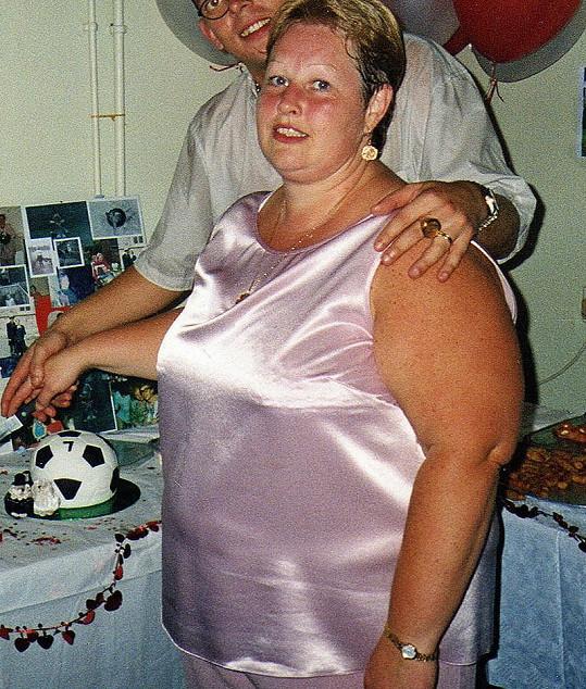 Jayne předtím, než zhubla 70 kilogramů.