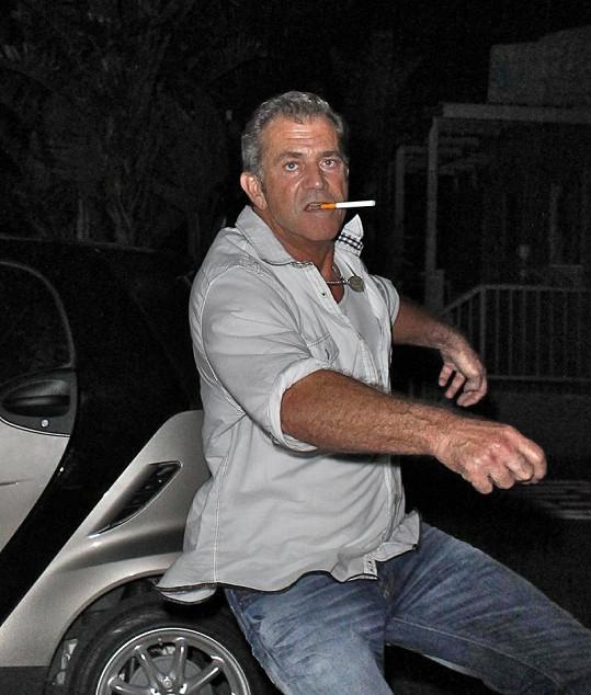 Mel Gibson se vrhá na fotografa.