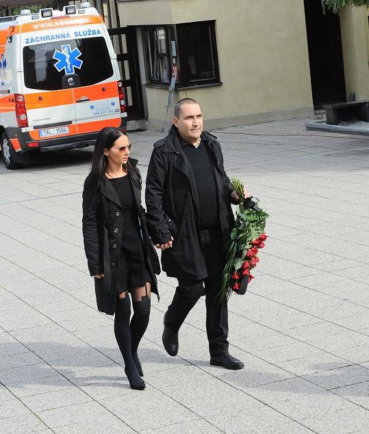 Sandra Nováková s partnerem Janem Nejedlým.