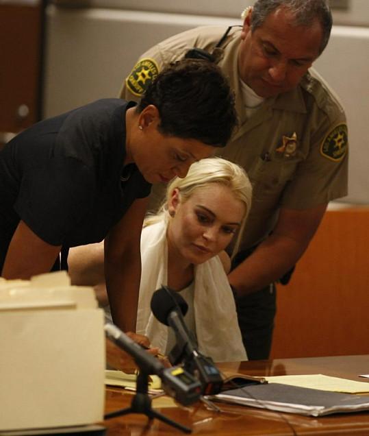 Lindsay Lohan opět u soudu.