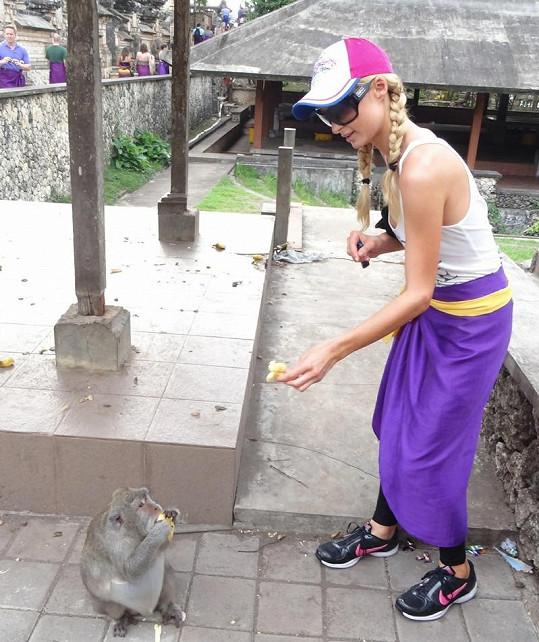 Paris Hilton na Bali nekrmila jen psy, ale i opičky.